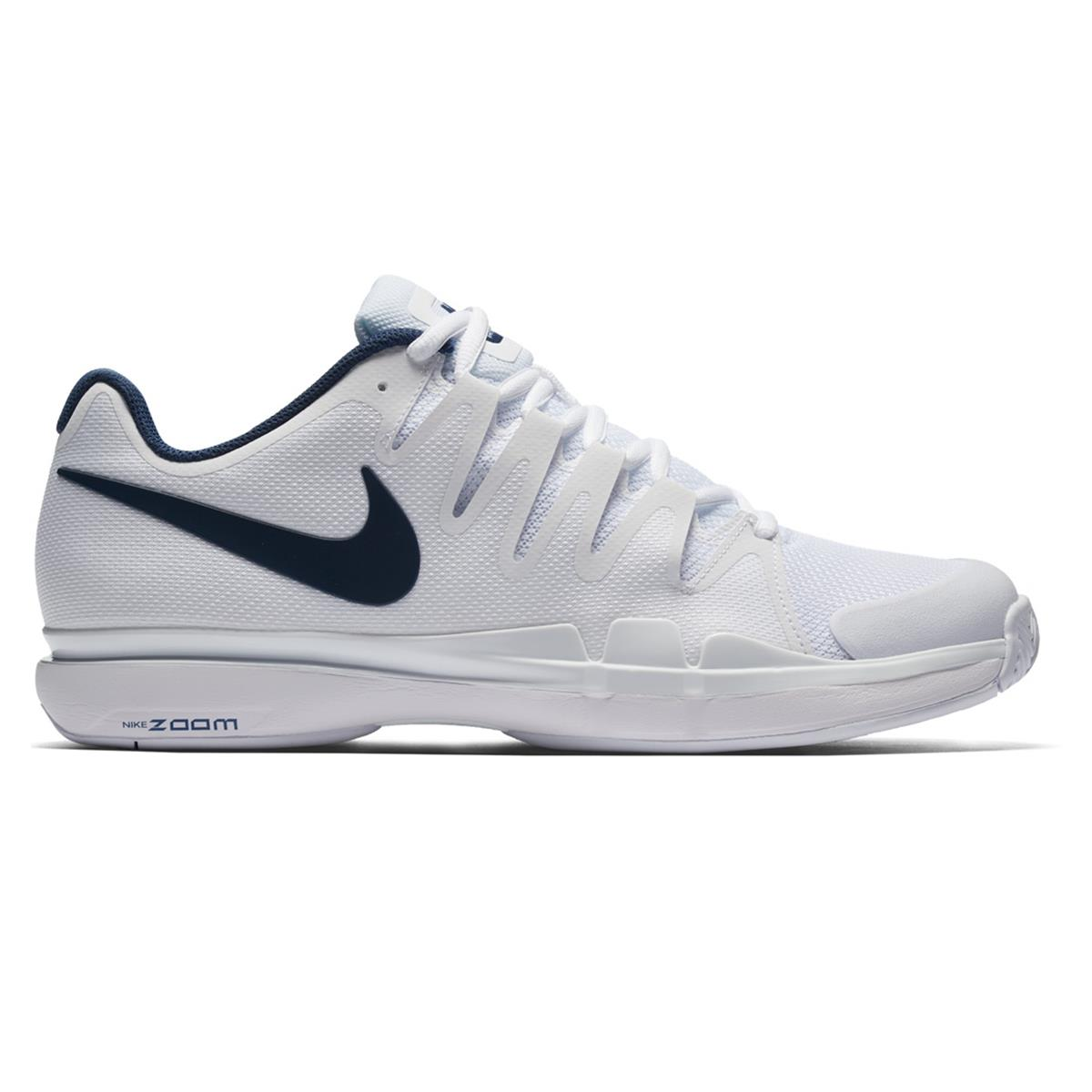 4e00b45f129 Nike Zoom Vapor 9.5 Tour Mens Tennis Shoes (White-Blue)