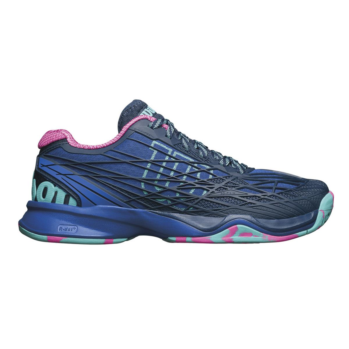 wilson kaos womens tennis shoes blue by directtennis