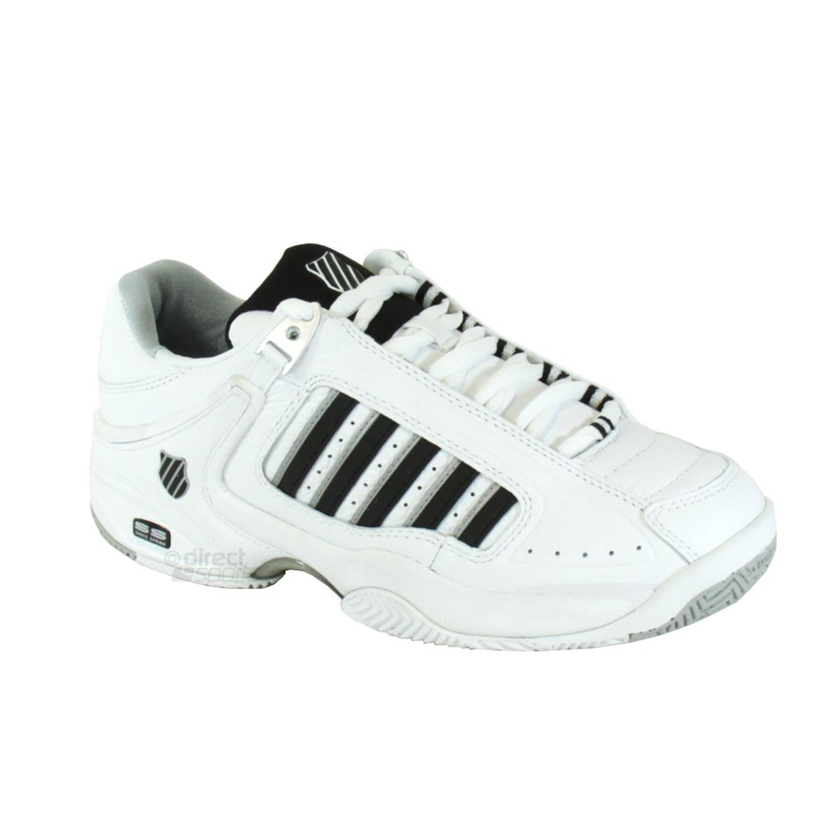 k swiss defier rs mens white black tennis shoes by