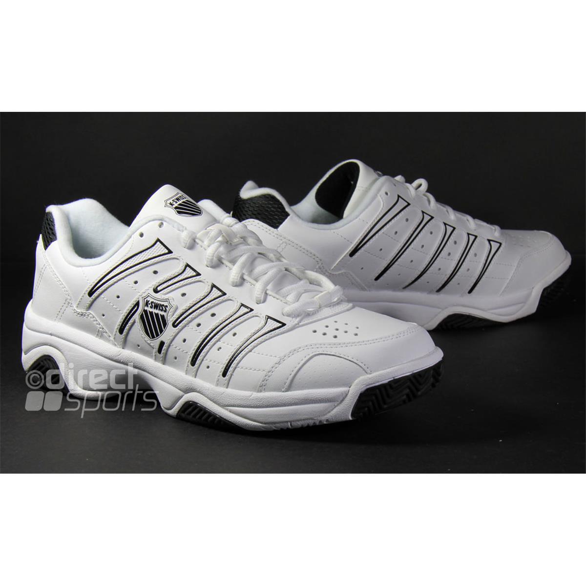 k swiss grancourt ii mens white black tennis shoes by