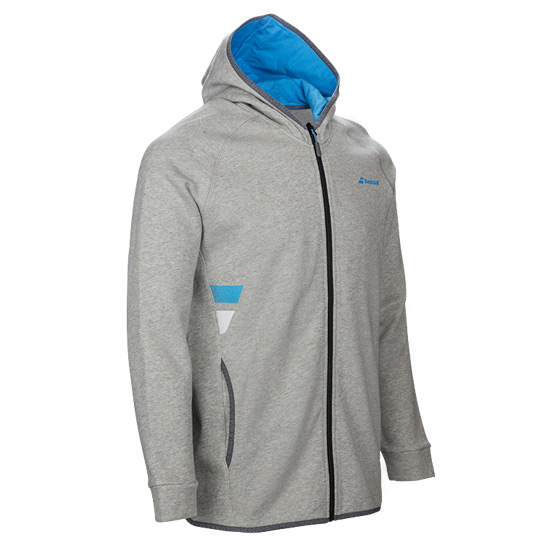 Babolat Core Boys Hooded Sweat Top (Heather Grey)