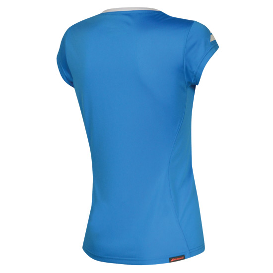 Babolat Core Flag Girls Tee (Blue)