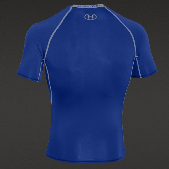 Under Armour HeatGear Compression Mens Shirt (Royal-Steel)