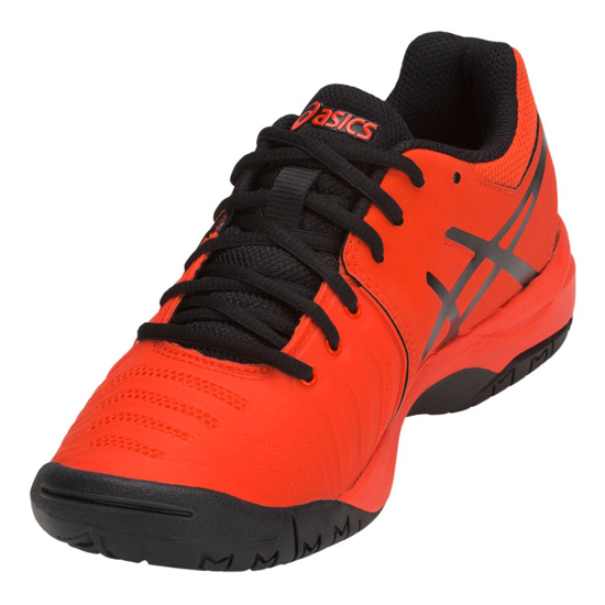 Asics Gel Resolution 7 GS Junior Tennis Shoes (Cherry Tomato)