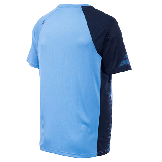 Babolat Performance Boys Crew Neck Tee (Parisian Blue)