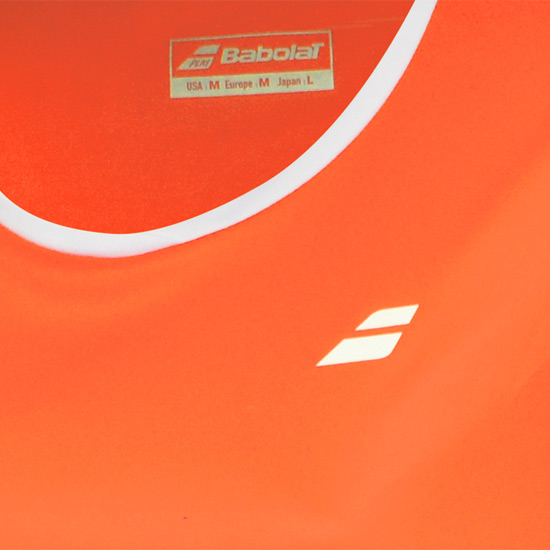 Babolat Core Flag Girls Tee (Fluo Strike)