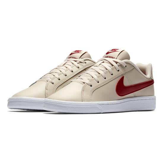 Nike Court Royale GS Junior Tennis Shoes (Desert Sand-Red Crush ... 02b58b93da307