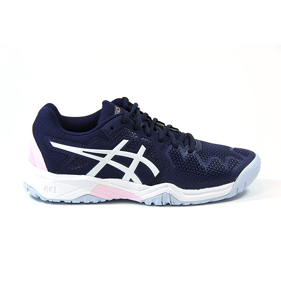 Asics Gel Resolution GS Junior Tennis Shoes (Peacoat-Cotton Candy)