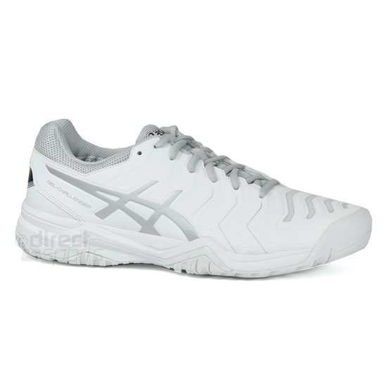 e5ac377f0541 Asics Gel Challenger 11 Mens Tennis Shoes (White-Silver)