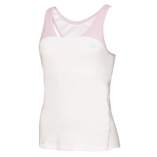Babolat Performance Girls Racerback Top (White)