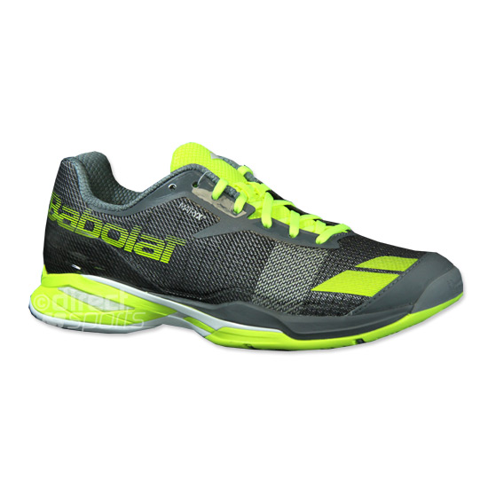 ae002b788db46 Babolat Jet All Court Mens Tennis Shoes (Grey-Yellow) | Direct Tennis