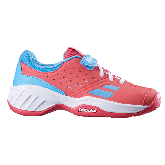 6a1ecfcf490a Babolat Pulsion All Court Kid Tennis Shoes (Pink-Sky Blue)