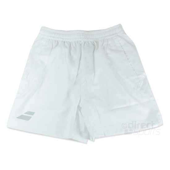 Babolat Core Boys Shorts (White)