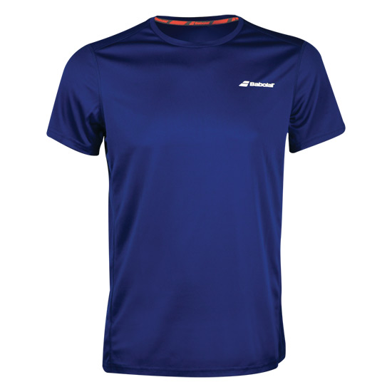 Babolat Core Flag Club Boys Tee (Estate Blue)
