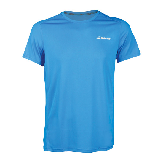 Babolat Core Flag Boys Tee (Diva Blue)