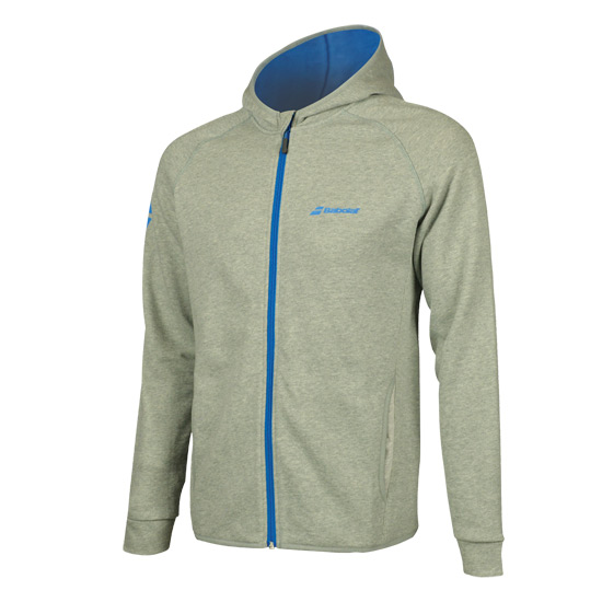Babolat Core Boys Hooded Sweat Top (High Rise Heather)