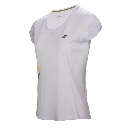 Babolat Core Flag Club Girls Tee (White)