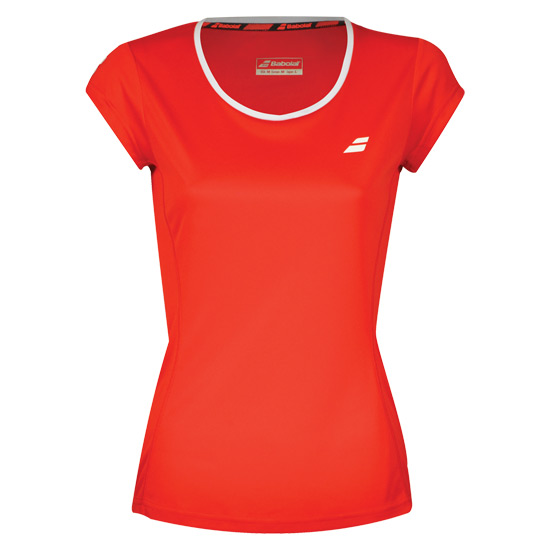 Babolat Core Flag Club Girls Tee (Fiery Red)
