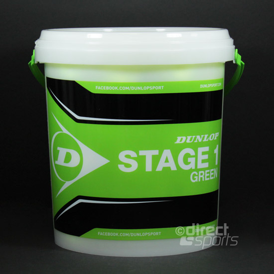 Dunlop Stage 1 Green Tennis Ball Bucket (5 dozen)