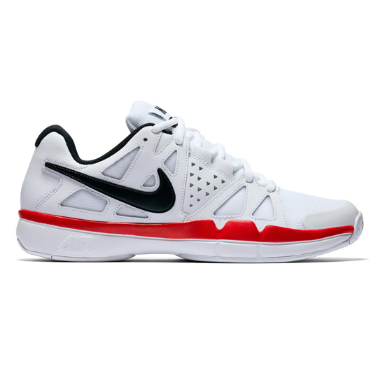 47b456d3bfe3 Nike Air Vapor Advantage Mens Tennis Shoes (White-Black-Red ...