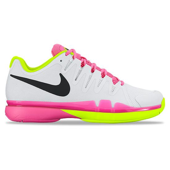 f32fffb869d8 Nike Zoom Vapor 9.5 Tour Womens Tennis Shoes (White-Pink)