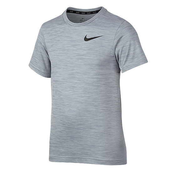 Nike Dri-Fit Junior Short Sleeve Top (Pure Platinum)