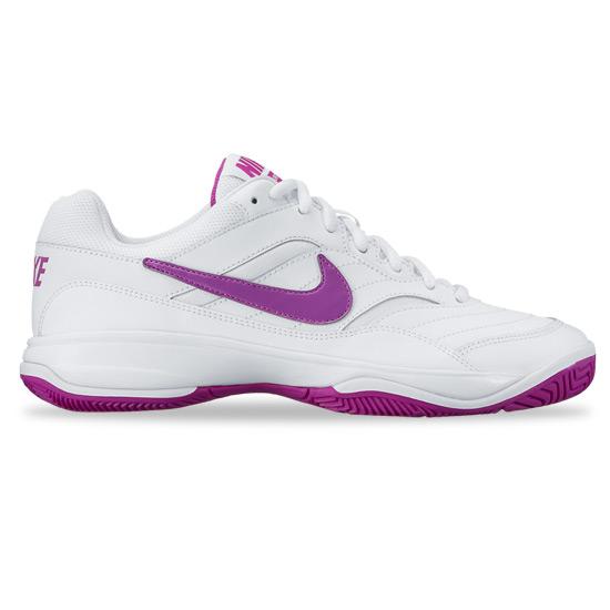 14834332 Nike Court Lite Womens Tennis Shoes (White-Purple) | Direct Tennis