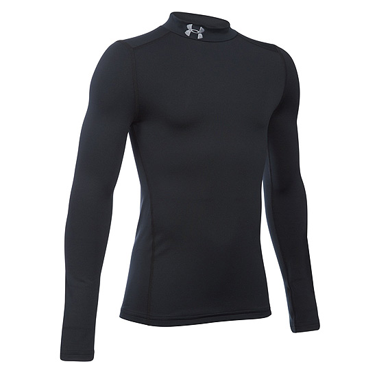 Under Armour ColdGear Junior Mock Top (Black-Steel)