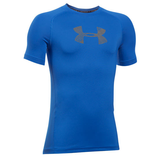 Under Armour HeatGear Fitted Boys Shirt (Ultra Blue-Graphite)