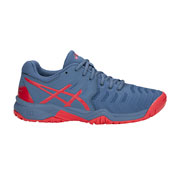 77f7a663954d Asics Gel Resolution 7 GS Junior Tennis Shoes (Pink Glo)