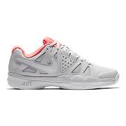 best website b3bf2 1abdf Nike Air Vapor Advantage Womens Tennis Shoes (Grey-Lava Glow)
