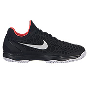 best service 0fb4f 9b3b9 Nike Air Zoom Cage 3 Mens Tennis Shoes (Black-White-Bright Crimson)