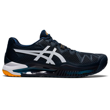 Asics Gel Resolution 8 Mens Tennis Shoes (French Blue-White)