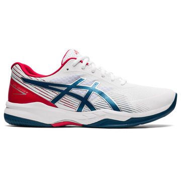 Asics Gel Game 8 Mens Tennis Shoes (White-Mako Blue)