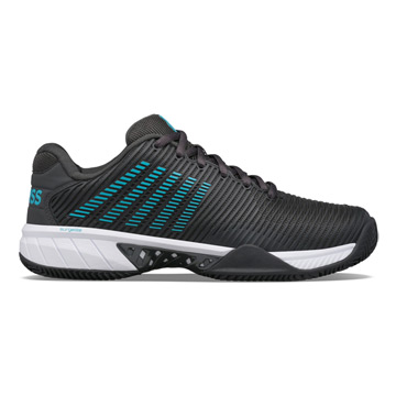K-Swiss Hypercourt Express 2 HB Mens Tennis Shoes (Dark Shadow-Scuba Blue-White)