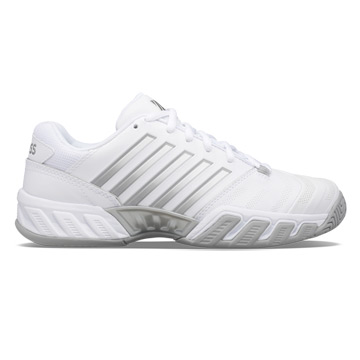 K-Swiss Bigshot Light 4 Womens Tennis Shoes (White-High Rise-Silver)