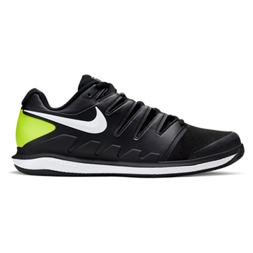 Nike Air Zoom Vapor X Mens Clay Tennis Shoes (Black-White-Volt)