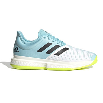 Adidas Solecourt Primeblue Mens Tennis Shoes (White-Core Black-Solar Yellow)